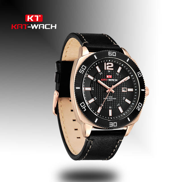 7376f5c64 Detail Feedback Questions about KAT WACH Luxury Brand Men Military Sports  Watches Men's Quartz Date Clock Man Casual Leather Wrist Watch Relogio  Masculino ...