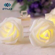 СВЕТОДИОДНАЯ Гирлянда в виде Розы гирлянда с цветами вечерние