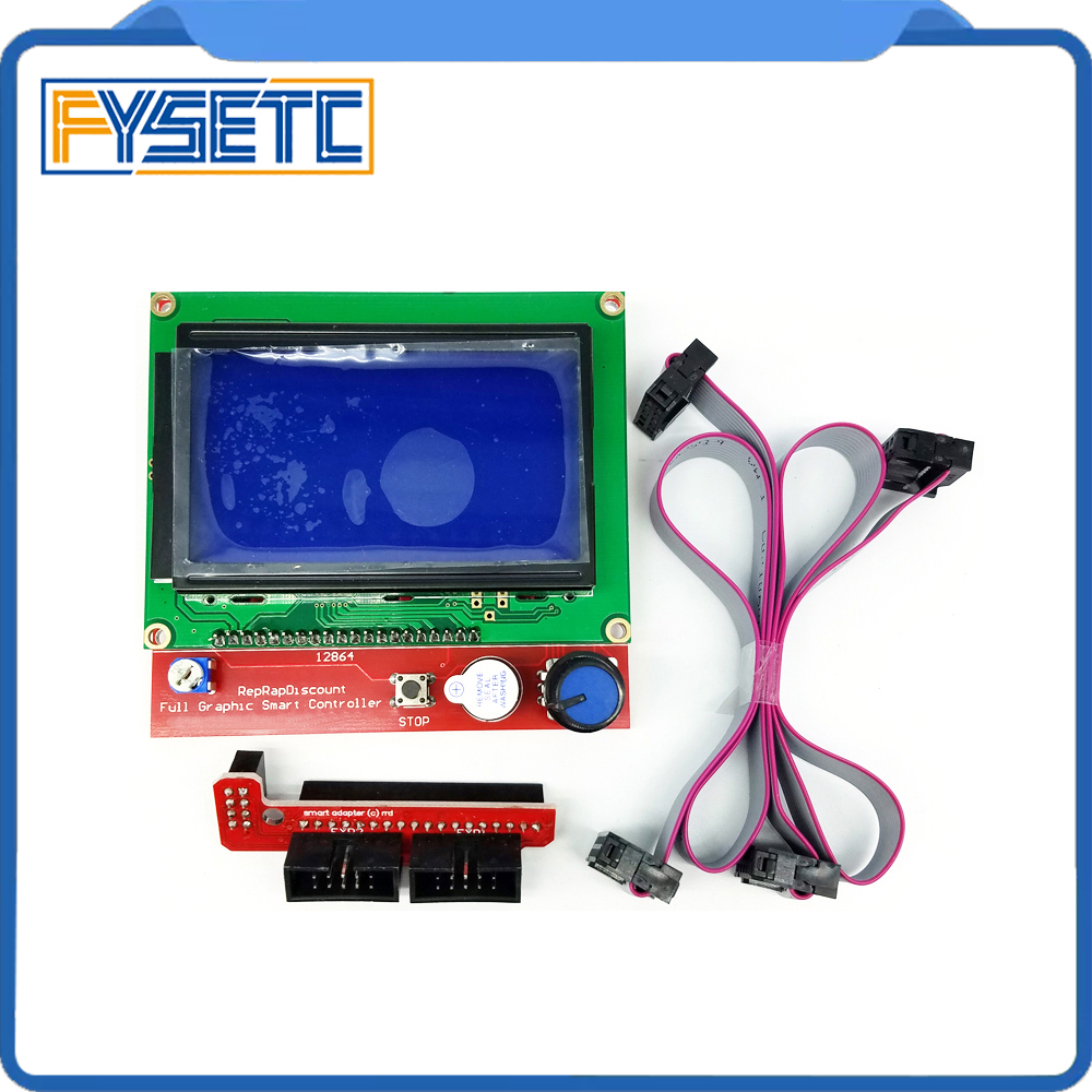 12864 LCD Ramps Smart Parts RAMPS 1.4 Controller Control Panel LCD 12864 Display Monitor ...