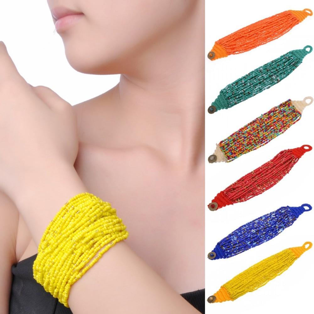 13 colores de verano diseño de marca simple venta caliente hecha a mano granos coloridos de la pulsera envío gratis