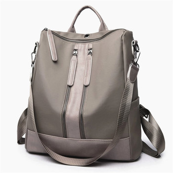 Bolso de hombro de diseñador de lujo casual oxford señoras mochila 2018 moda mujer correa de hombro medio doble cremallera bolsas