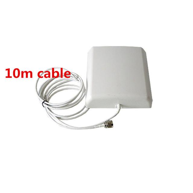 800 MHz ~ 2500 MHz 8dBi 2G/3G CDMA/GSM/DCS/PCS/WCDMA móvel signal booster antena Painel com 10 metros de parede interior cabo