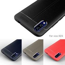 Vivo X23 Case Silicone Shockproof Bumper Carbon Fiber Soft Back Cover For Phone for Coque Fundas Etui