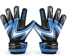 Top quality!JANUS Full latex goalkeeper gloves professional football goal keeper thicken finger gloves,Free shipping