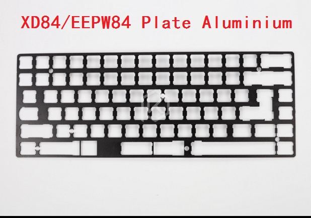 xd84 eepw84 anodized aluminum mechanical keyboard plate diy support