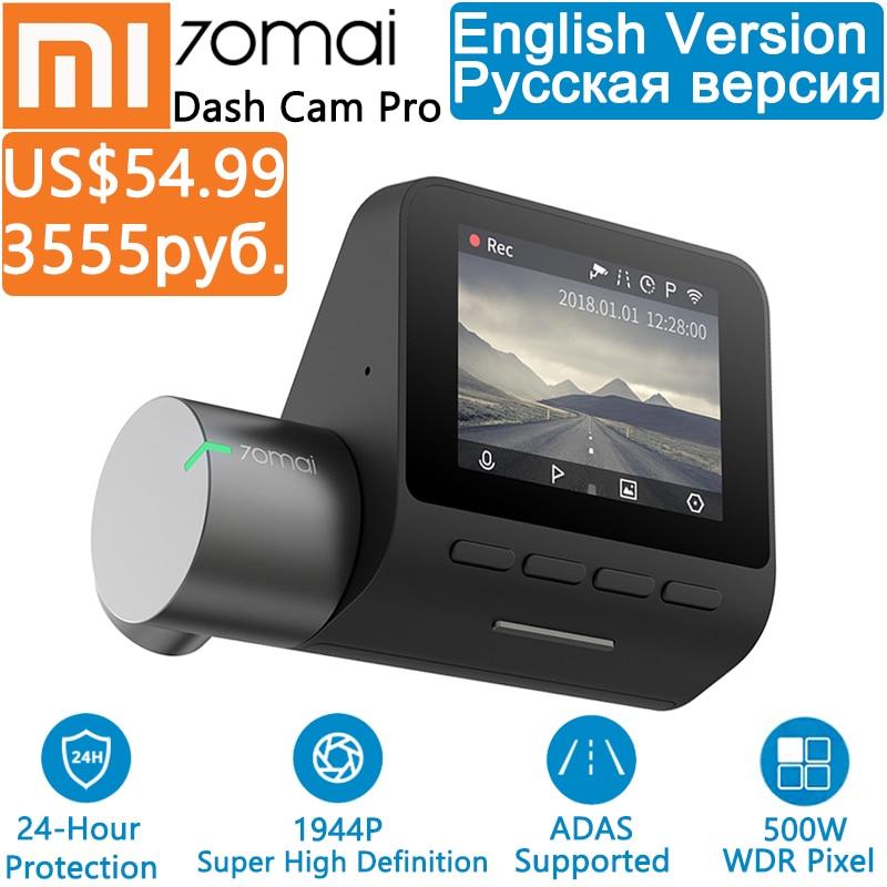 Xiaomi 70mai Pro Dash Cam Full HD 1944 P grabadora de cámara de coche GPS ADAS 70 Mai Wifi Dvr coche 24 monitor de estacionamiento H 140FOV visión nocturna