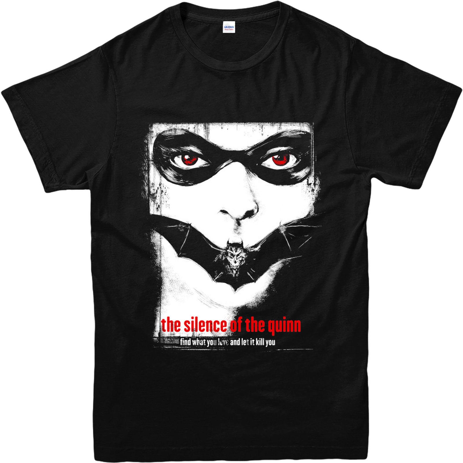 Футболка Харли Куинн, прикольная футболка тишина ягнята Вдохновленный Дизайн Top2019 модный бренд 100% хлопок с круглым вырезом
