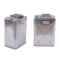 40 litres oil canister jerry cans with sealing cap stainless steel jerrycan petrol diesel edible oil canister 1pc