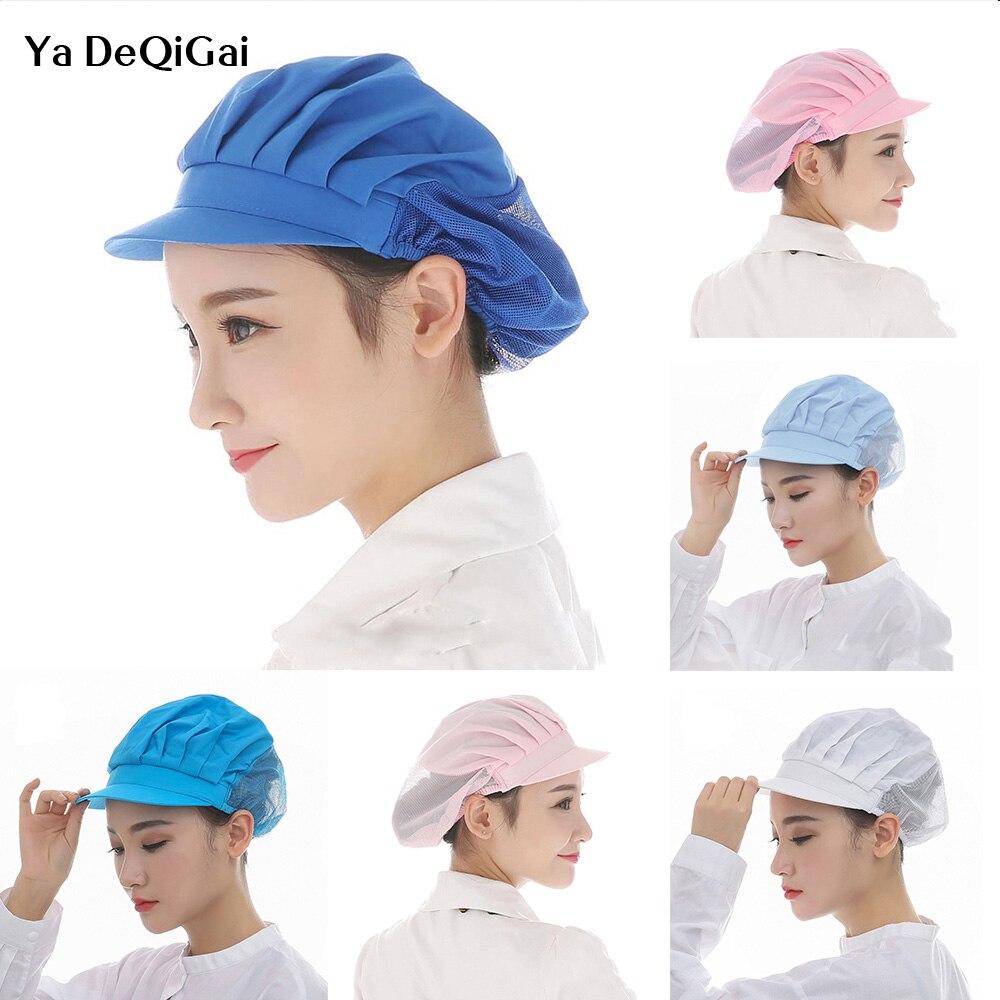 Restaurants Accessories Dust Proof Cooking Cap New Men Women Chef Hat Breathable Hotel Cook Cap Work Uniform Elastic Kitchen Hat