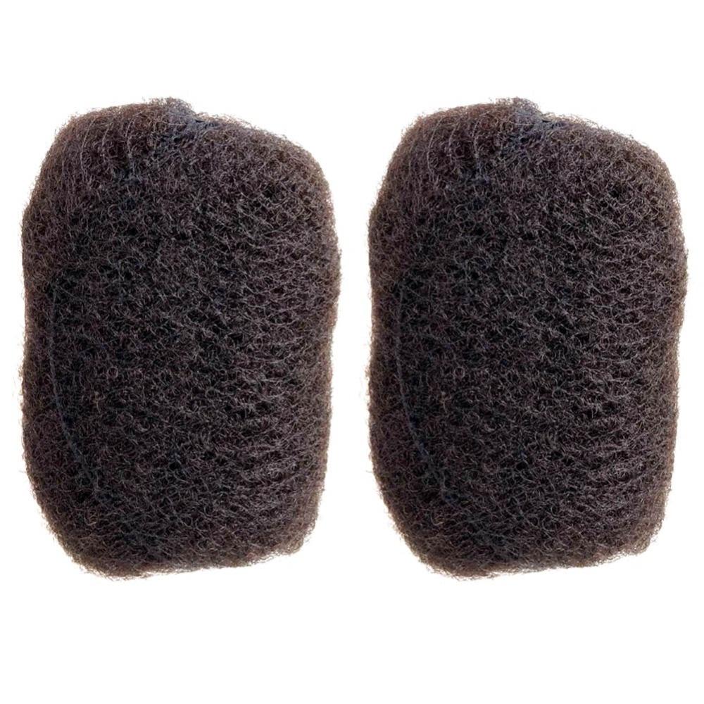 YOTCHOI 4 unids/lote apretado AFRO KINKY pelo a granel 100% cabello humano para rastas... TWIST trenzas marrón oscuro #2 y #4 longitud 8