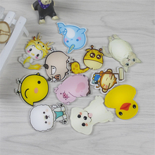 New arrival 1 piece Lovely Cartoon animal magnetic stickers Acrylic Fridge Magnets Home Decoration w