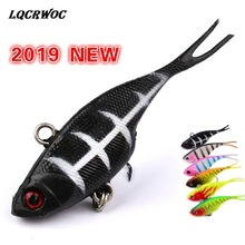 Lead VIB Bait 6.8cm 9g Vibrant Vibrating Spoon Soft With T Tail Fishing Bass Artificial Hard Insect fish 3D Eye