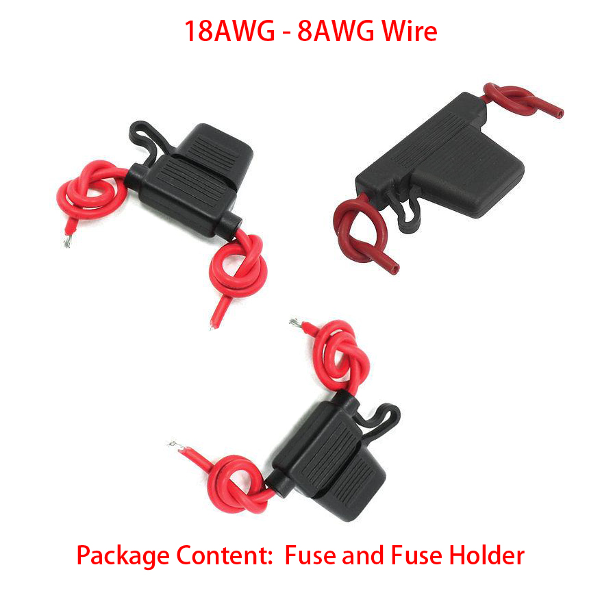 1Piece 10 8 AWG Wire Cable 50A 100A Large Size Fuse Car Automotive Blade Waterproof In-Line Block Case Fuse Socket Holder1Piece 10 8 AWG Wire Cable 50A 100A Large Size Fuse Car Automotive Blade Waterproof In-Line Block Case Fuse Socket Holder