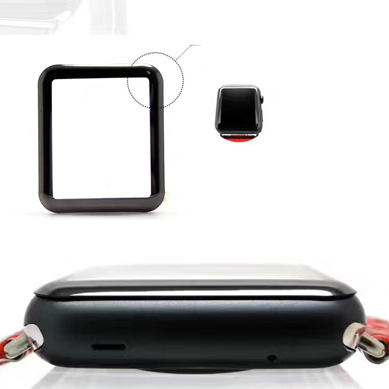MCMEME-Tempered-Glass-For-Apple-Watch-38mm-42mm-Series-2-1-Full-Cover-3D-Curved-Black (2)