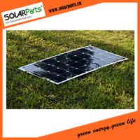 100W Semi Flexible Rollable Solar Panels Solar Modules For RV Boat Golf Cart Marine Yachts Home