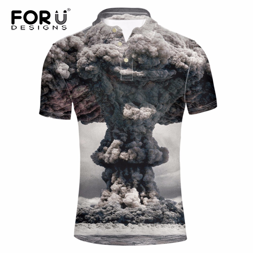 Forudesigns Cool 3d Printing Mens Polo Shirt Summer Style Comfort