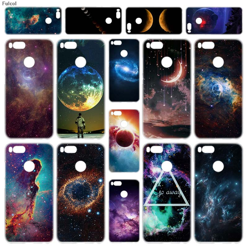 Earnest Fulcol Trifid Nebula Moon Space Transparent Fashion Shell Case Cover Para For Xiaomi Redmi Note 3 4 4x 5 Puls 4a 5a 6a Mi5x A1 Phone Bags & Cases