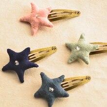 O envio gratuito de três peças/lote de alta qualidade little star handmade hairpin acessórios para o cabelo das mulheres menina