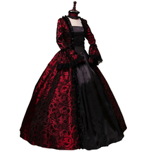 Gothic Victorian Period Georgian Dress Halloween Masquerade Ball Gown Reenactment Clothing