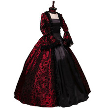 Victorian Gothic Georgian Period Dress Halloween Masquerade Ball Gown Reenactment Clothing(China)