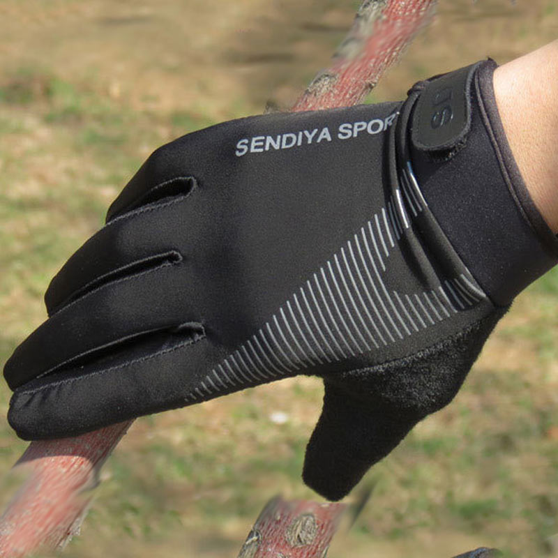 Lady Outdoor Cycling Riding Biking Full Finger Mittens Sun Resistant Gloves Pair