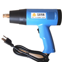 US Plug 1500W 2000W Industrial Electric Heat Gun Handheld Hot Air Gun for Wallpaper Paint Stripping Turbine Type High Strength