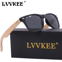 LVVKEE Brand Design Wood Sunglasses Men Women Retro Bamboo Top Quality Metal Points Sun Glasses UV400