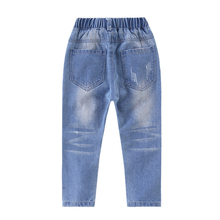 Stylish Ripped Casual Blue Baby Girl's Jeans