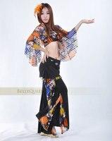 2016 Il nuovo colore Misto gonne abiti del manicotto della farfalla abbigliamento danza del ventre pratica danza del ventre vestito all'ingrosso
