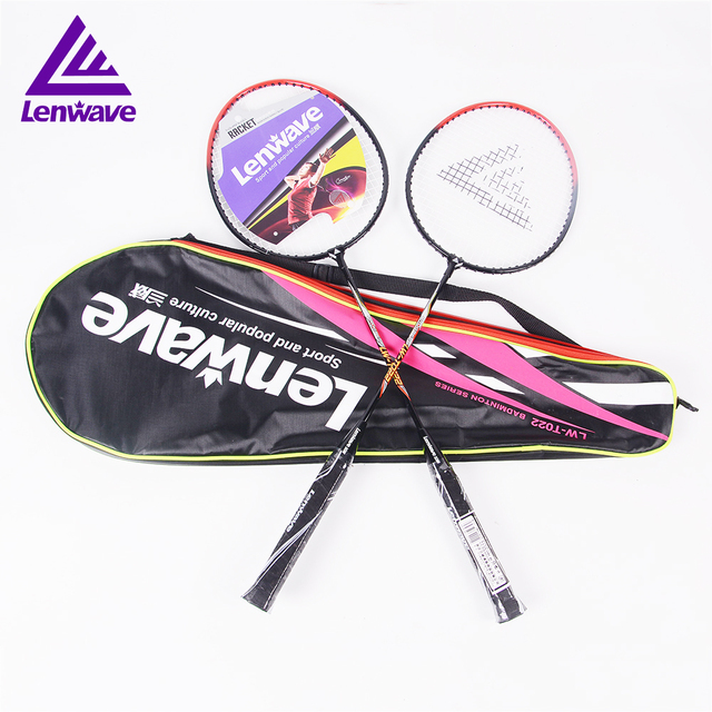 Lenwave 1 Pair Badminton Racket Steel Material For Men And Women Adults Play Sports Cheap Badminton Racquets