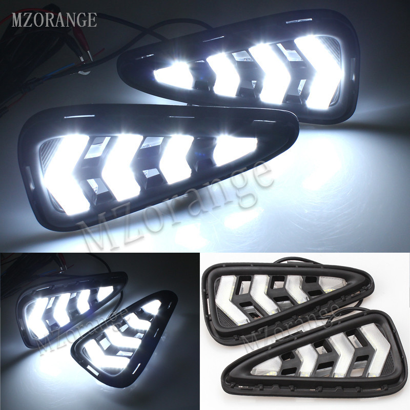 MZORANGE Daytime Running Light Fog light High Quality LED DRL for Toyota Camry 2015 2016 fog lamp Relay 12V 6000K car-styling