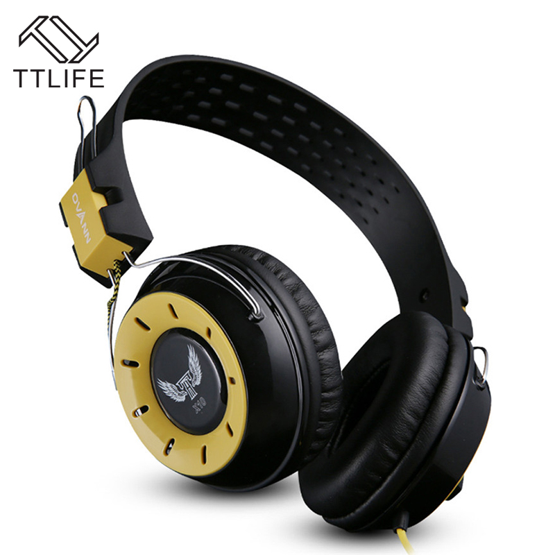 TTLIFE Brand 3.5mm with Mic for Computer Portable Headphone Game Gaming Headset Stereo Bass Earphone Wired Headband Headphones
