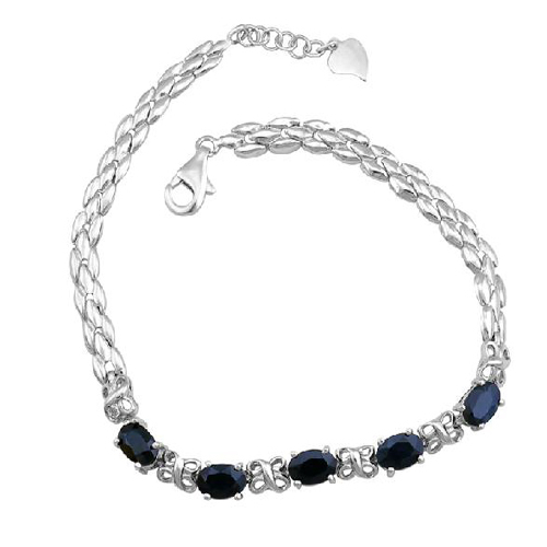 2017 Real Qi Xuan_Free Mail Dark Blue Stone Elegant Bracelets_S925 Solid Silver Fashion Bracelets_Manufacturer Directly Sales 2017 Real Qi Xuan_Free Mail Dark Blue Stone Elegant Bracelets_S925 Solid Silver Fashion Bracelets_Manufacturer Directly Sales