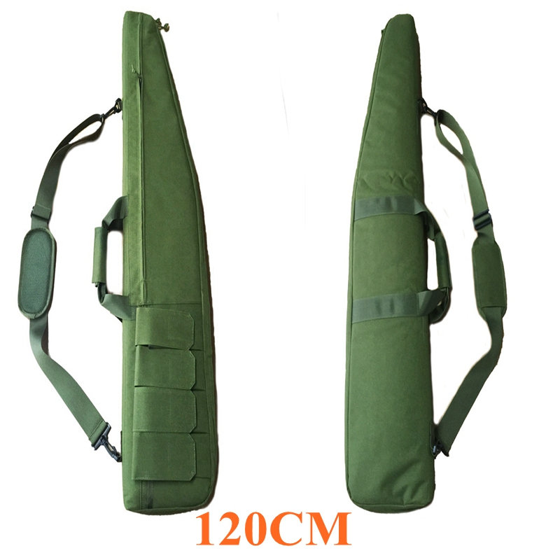 For 120CM Rifle Bag Green Nylon Tactical Shoulder Bag W/ Magazine Pouches Military Army Outdoor Shooting Huntting Gun Hand Bag