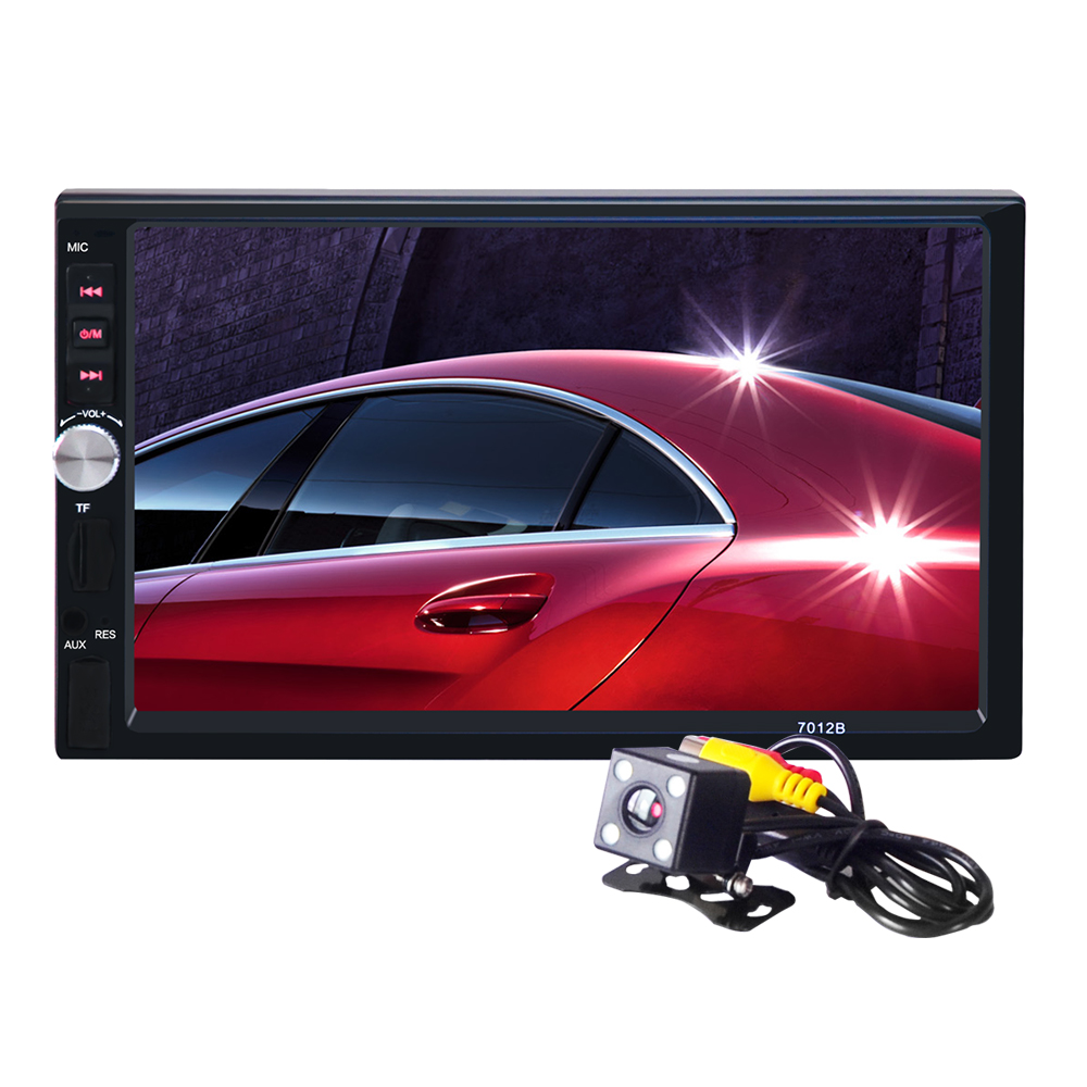 ФОТО Autoradio oto teypleri Bluetooth 7inch 2din with Rear Camera Car Audio Stereo MP5 Player 12V Auto AUX FM USB SD MMC JPEG,WMA,MP4