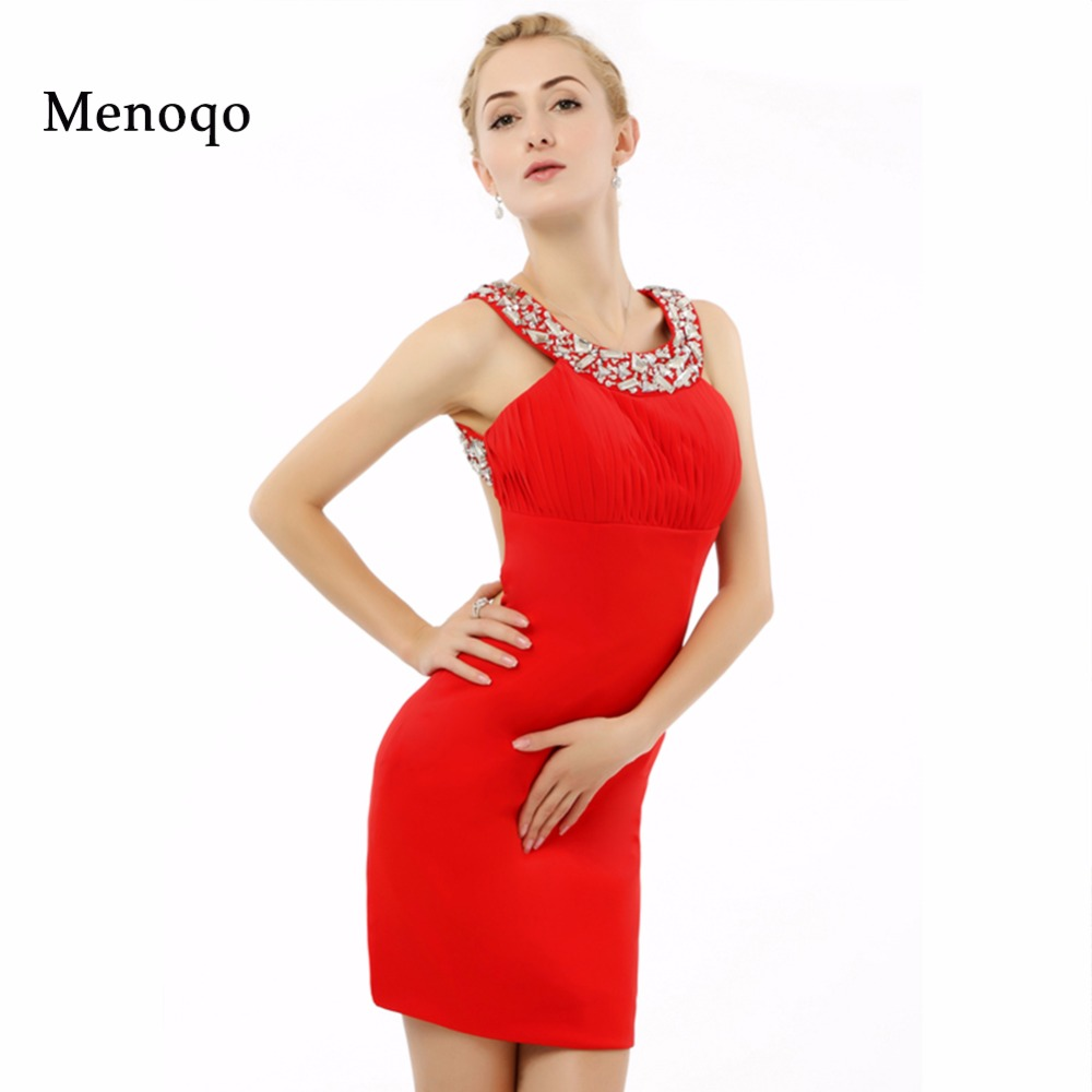 robe de cocktail High Quality New Fashion Party Event Dress  Ladies Sheath Red Fitted Short Cocktail Dresses Real Sample
