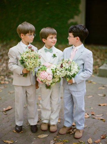 Notch Lapel Kid's 2 Piece Wedding Groom Tuxedos Boys Children Party Prom Suits