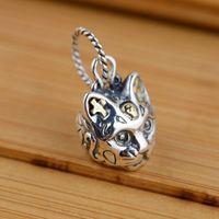 [Silber] Silber Hirsch König S925 Großhandel Sterling Silber Anhänger antiken Stil Katze Geliebte Uhr