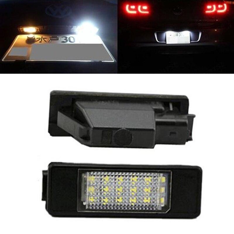 2 шт Белый светодиод автомобиля заднего номерного знака для Пежо 106 1007 207 307 308 3008 406 407 508 806 стайлинга автомобилей