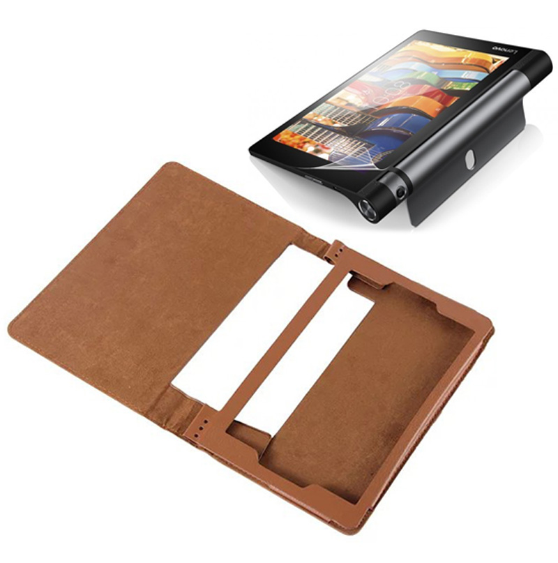 Galleria fotografica Luxury Folio Stand Leather Case Protective Cover For Lenovo Yoga Tab 3 Tab3 8.0 850F YT3-850M 850L 8