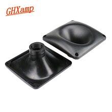 GHXAMP 149*149mm Tweeter corne Bugle haut parleur ABS plastique carré professionnel haut parleur son renfort corne universel 2 pièces