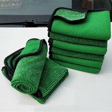 1psc 40*60 Yeşil Araba Yıkama Mikrofiber Havlu Araba Temizleme Aracı Detaylandırma Kuru Bez Araba Bakımı Asla Çizik Balmumu havlu