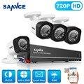 Sistema de seguridad cctv dvr 8ch 1080 p 4en1 sannce 4 unids 720 p tvi cámaras cctv ir resistente a la intemperie al aire libre de vídeo vigilancia kit diy