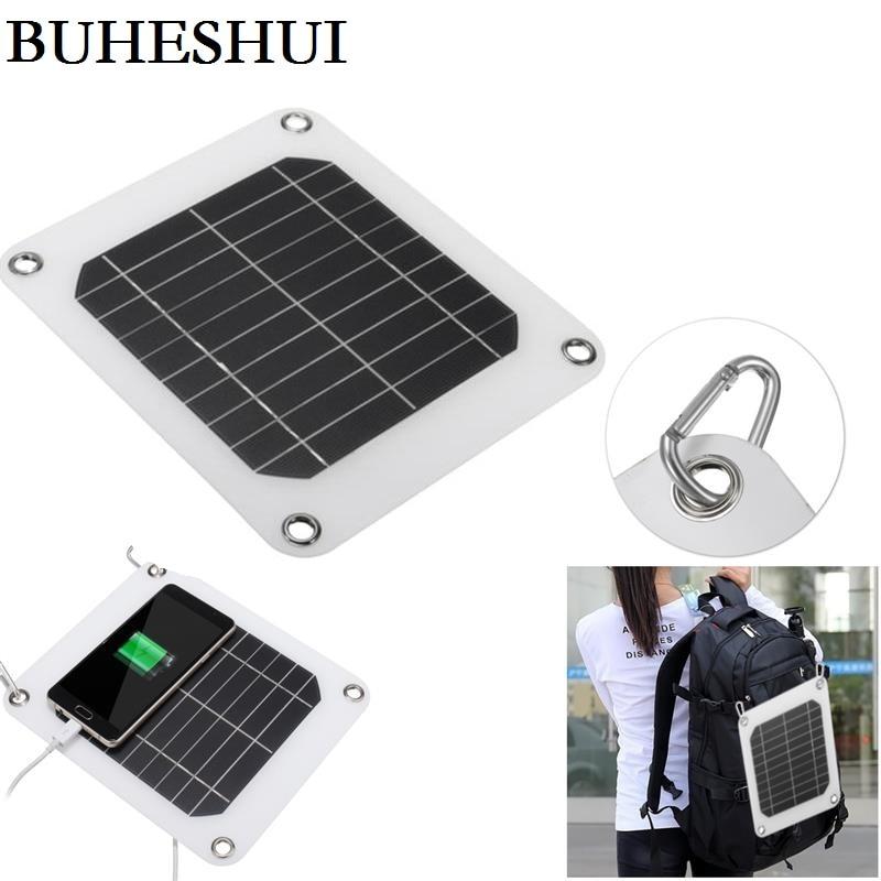 ✓BUHESHUI 5W 5V Portable Solar Panel Charger Outdoor USB Digital ...
