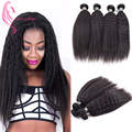 7A Mongolian Kinky Straight Coarse Yaki Peerless Virgin Hair 4 Bundles Italian Yaki Kinky Straight Hair Weave Ms Lula Hair