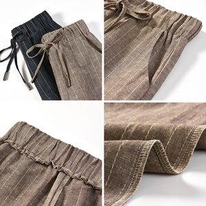 Image 2 - ผ้าฝ้ายผ้าลินินขากว้างขากางเกงผู้หญิง 2019 ฤดูร้อน Breathable plus ขนาด harajuku gothic กางเกงผู้หญิง palazzo กางเกง capri