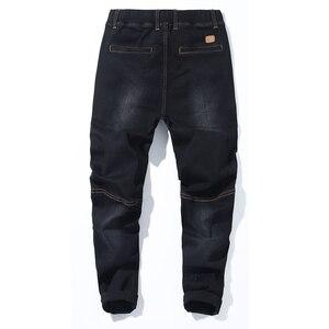 Image 4 - 2018 jesień nowe męskie Plus Size dżinsy moda Casual Hip Hop luźny dżins dżinsy czarne niebieskie spodnie Harem spodnie 5XL 6XL 7XL