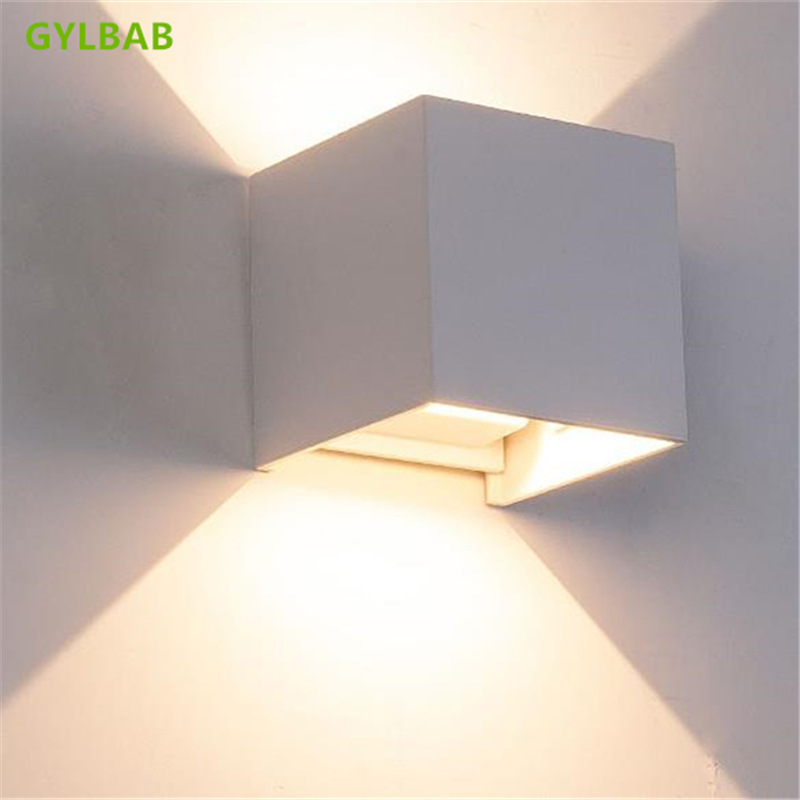 GYLBAB 6W LED Metal Wash Wall Light Night Art Project Emotional Appeal Len Atmosphere Lamp Arts 110v 220v Refraction Mood