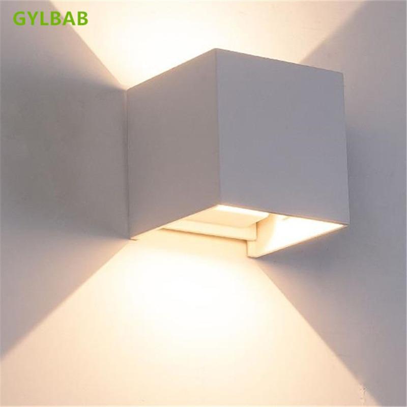 GYLBAB 6W LED Metal Wash Wall Light Night Art Project Emotional Appeal Len Atmosphere Lamp Arts 110v 220v Refraction Mood