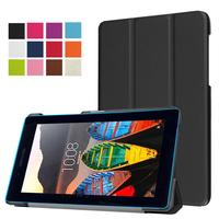 XSKEMP Shockproof Folio Stand Cover Flip PU Leather Case For Lenovo Tab 3 7 Essential 710F